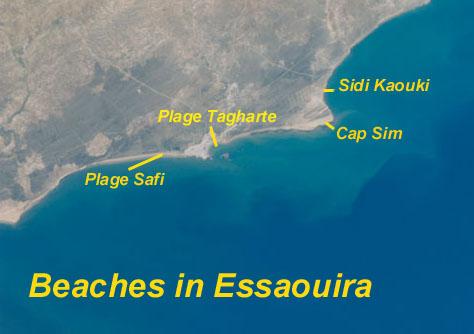 Essaouira map beaches