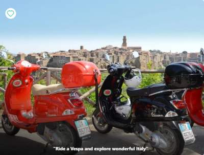 Scooter tour Italy