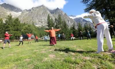 Aosta valley Italy meditation